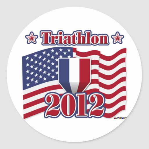 Triathlon 2012 etiqueta redonda