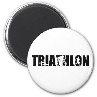 Triathlon 2 Inch Round Magnet