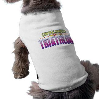 Triathlon 2 obsesionado camiseta sin mangas para perro