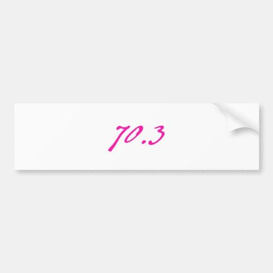 triathlon 70.3 bumper sticker