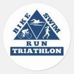 Triathlon athlete swim bike run race sticker