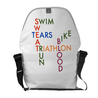 Triathlon blood sweat and tears courier bag