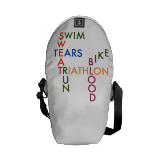 Triathlon blood sweat and tears courier bags