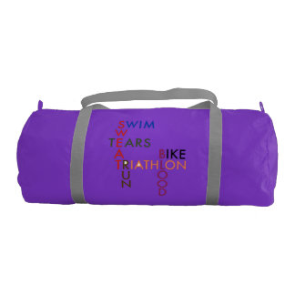 Triathlon Blood Sweat and Tears Gym Bag