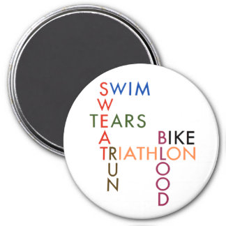 Triathlon Blood Sweat and Tears Magnet