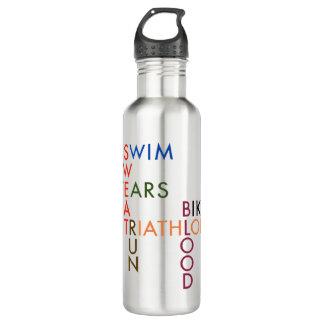 Triathlon Blood Sweat and Tears Stainless Steel Water Bottle