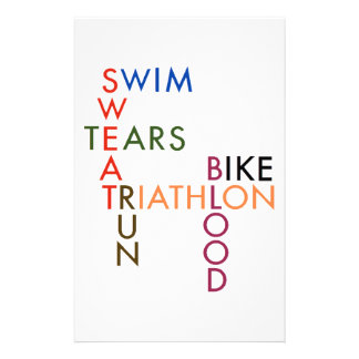 Triathlon Blood Sweat and Tears Stationery