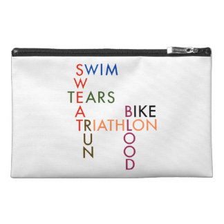 Triathlon Blood Sweat and Tears Travel Accessory Bag