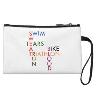 Triathlon Blood Sweat and Tears Wristlet Wallet