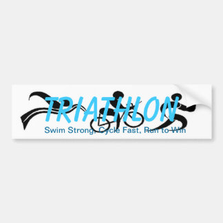Triathlon Bumper Sticker