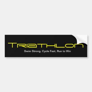 Triathlon Pegatina De Parachoque