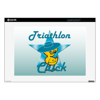 Triathlon Chick #7 Laptop Skins