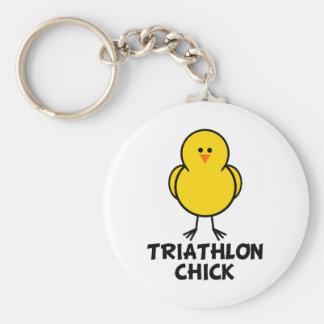 Triathlon Chick Keychains