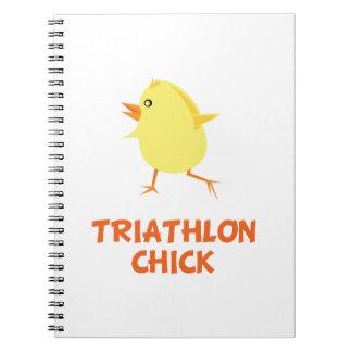 Triathlon Chick Spiral Note Book