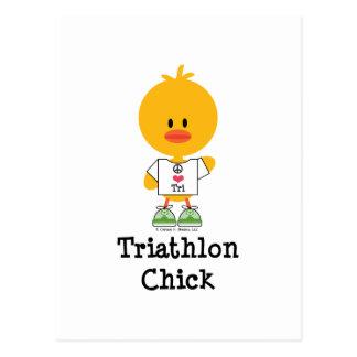Triathlon Chick Postcard