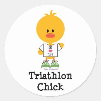 Triathlon Chick Stickers