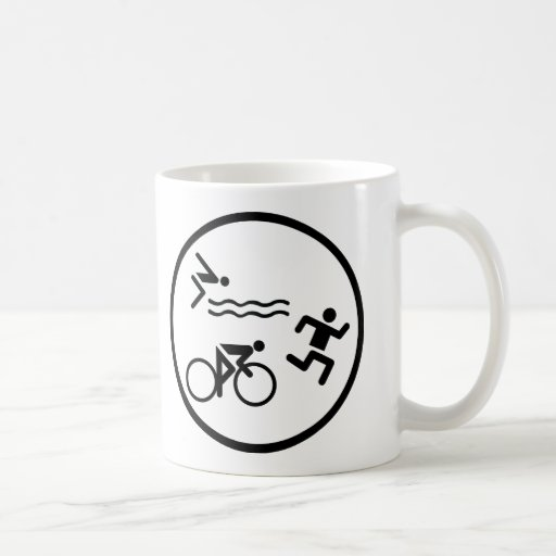 triathlon circle icon coffee mugs
