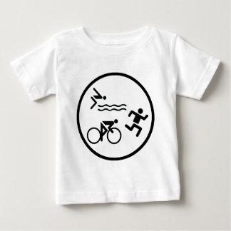 triathlon circle icon infant t-shirt