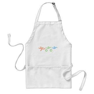 Triathlon cool and unique design adult apron