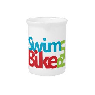 Triathlon cool and unique design beverage pitcher