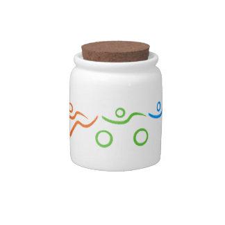 Triathlon cool and unique design candy jar