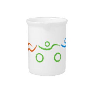 Triathlon cool and unique design drink pitcher