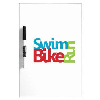 Triathlon cool and unique design Dry-Erase board