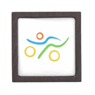 Triathlon cool and unique design keepsake box