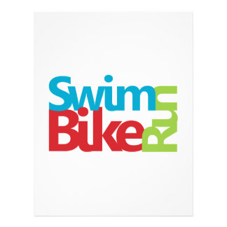 Triathlon cool and unique design letterhead