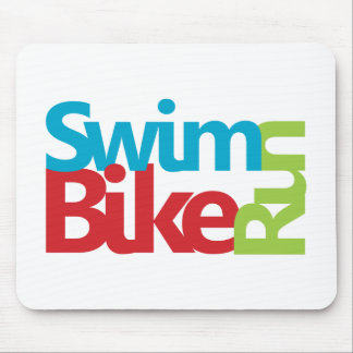 Triathlon cool and unique design mouse pad