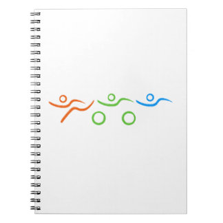 Triathlon cool and unique design notebook