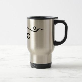Triathlon cool and unique design travel mug