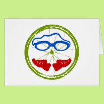 Triathlon cool artistic design card