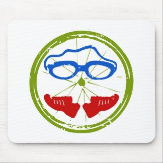 Triathlon cool artistic design mouse pad