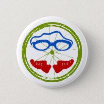 Triathlon cool artistic design pinback button