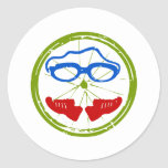 Triathlon cool artistic design stickers