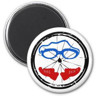 Triathlon cool artistic logo 2 inch round magnet