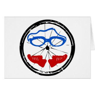 Triathlon cool artistic logo greeting card