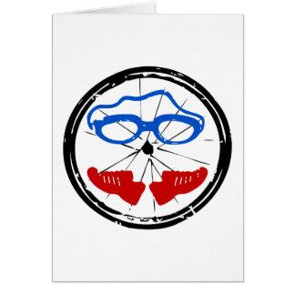 Triathlon cool artistic logo card