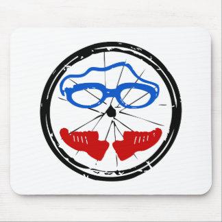 Triathlon cool artistic logo mouse pad