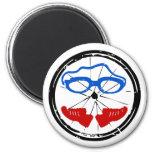 Triathlon cool artistic logo refrigerator magnet