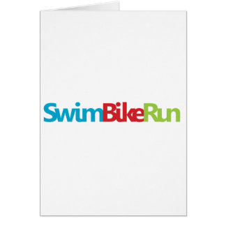 Triathlon Cool Design Card