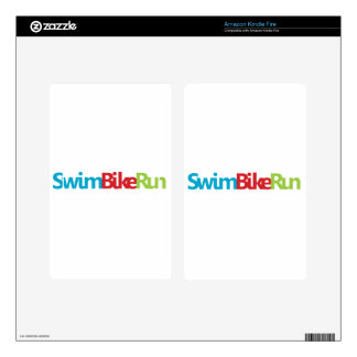 Triathlon cool logo for all sport lovers decal for kindle fire