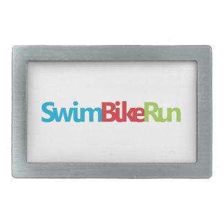 Triathlon cool logo for all sport lovers rectangular belt buckle