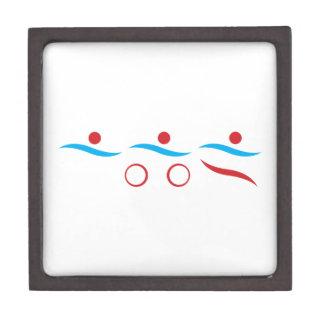 Triathlon cool logo illustration gift box