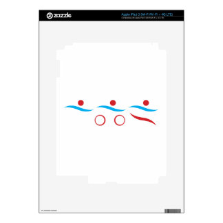 Triathlon cool logo illustration iPad 3 skins