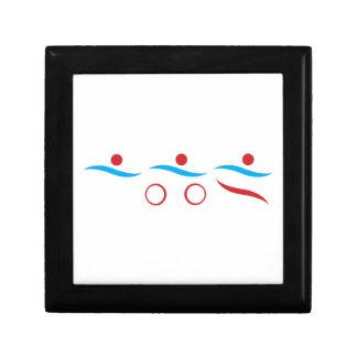 Triathlon cool logo illustration jewelry box