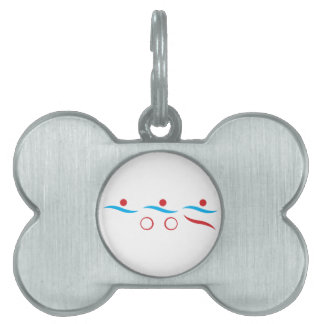 Triathlon cool logo illustration pet ID tag