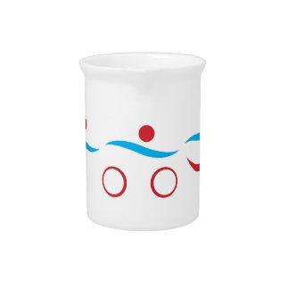 Triathlon cool logo illustration pitcher