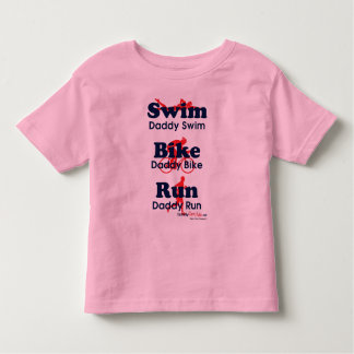 Triathlon Daddy Toddler T-shirt